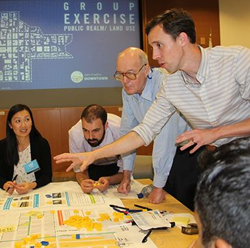 Community members and city staff collaborate about the future of Downtown San Mateo