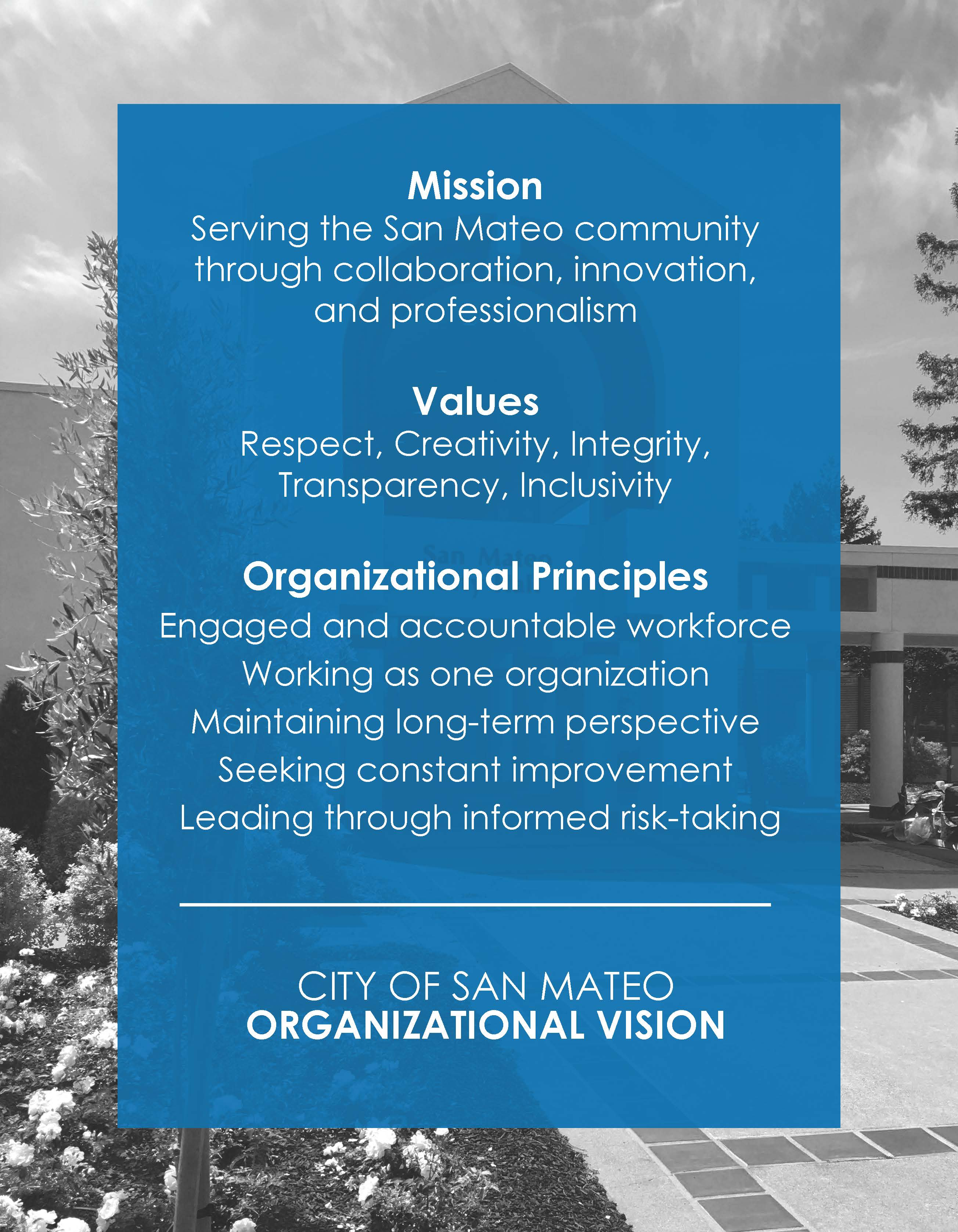 City Mission Values Priniciples