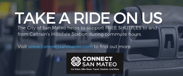 Free Commuter Shuttles in San Mateo - Hillsdale Caltrain Station
