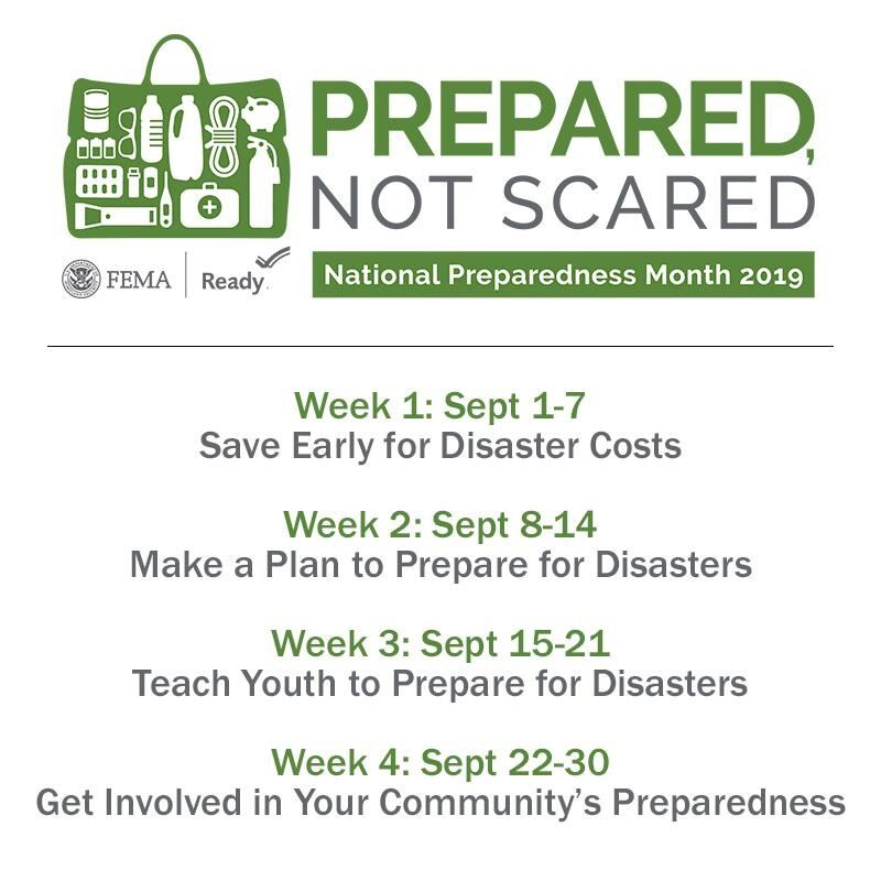 FEMA Preparedness Month 2019