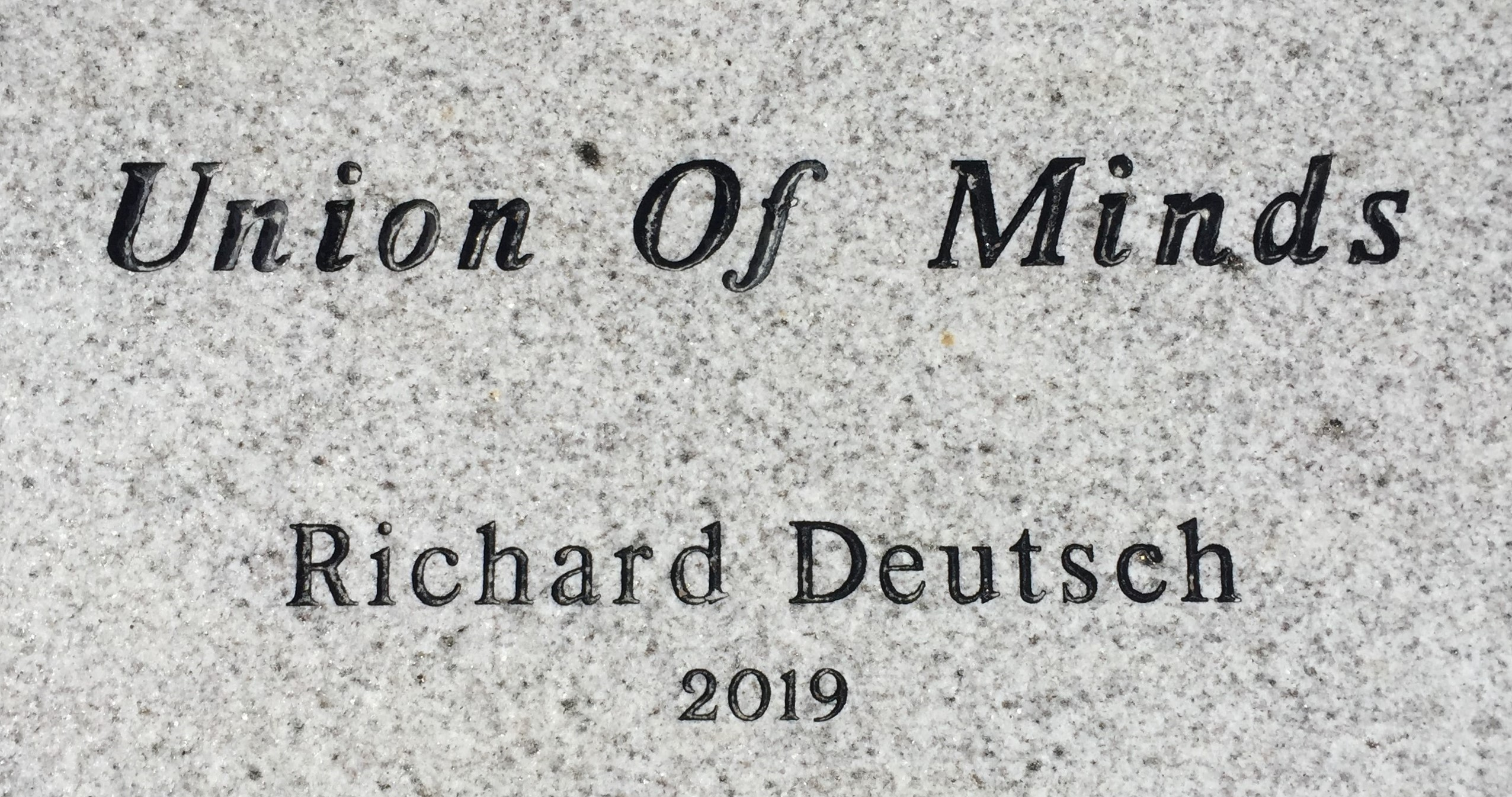Union of Minds dedication
