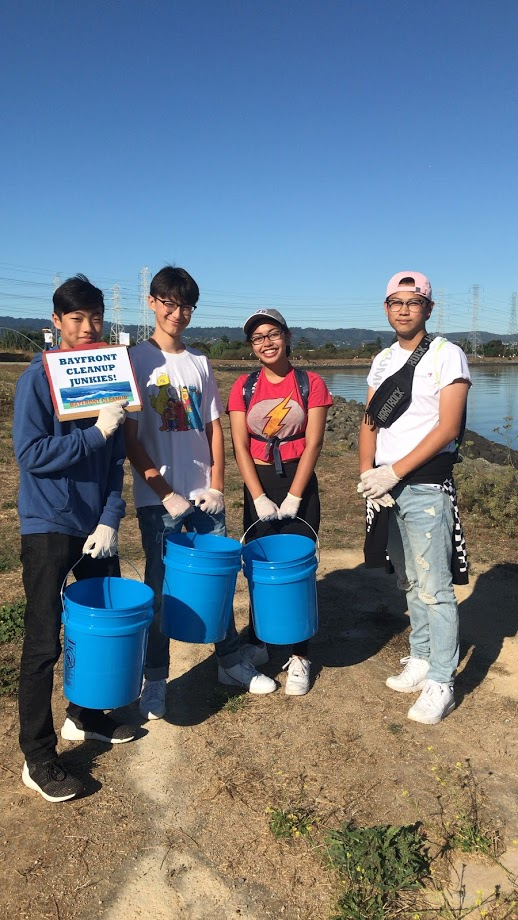 Group Bayfront cleanup