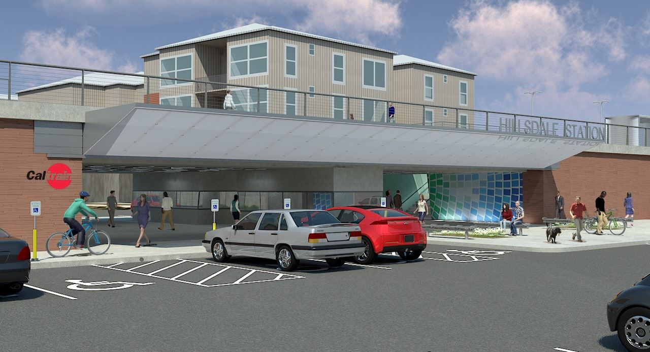 Proposed pedestrian underpass at new Hillsdale Station rendering