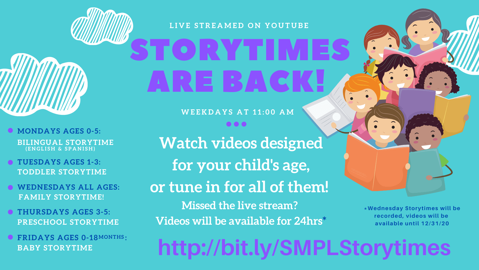 Storytime Livestreams Sept-Oct
