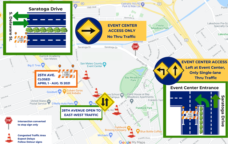 Event Center - Traffic Route - March 18