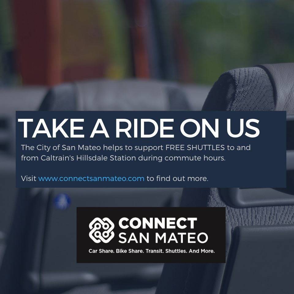 Free Commuter Shuttles in San Mateo - Hillsdale Caltrain Station-square