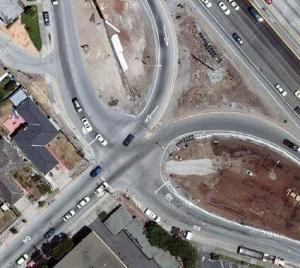 Aerial View of Intersection